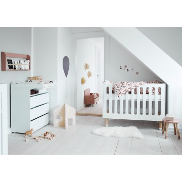 DOTS – BABY COT – WHITE