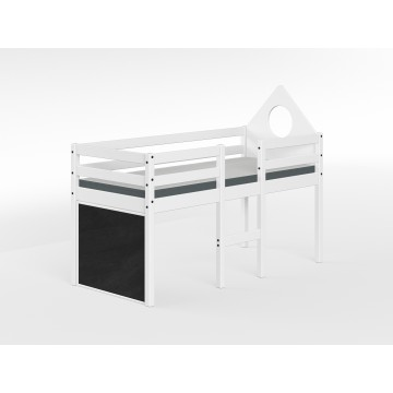ALFRED – LOW MID HIGH JUNIOR SINGLE BED – FULL WHITE