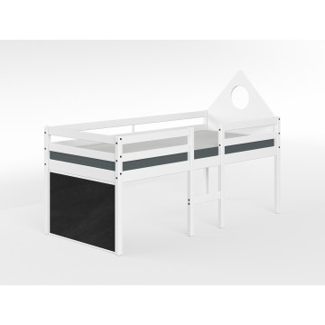 ALFRED – LOW MID HIGH SINGLE BED – FULL WHITE