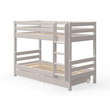 CLASSIC – BUNK BED – W. PULL OUT DRAWERS – GREY WASHED