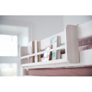 CLASSIC – CASA HIGH BED W. SLANTING LADDER – GREY WASHED