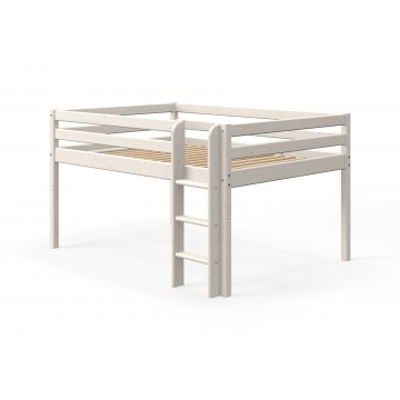 CLASSIC - MID HIGH BED - 140CM - WHITE WASHED