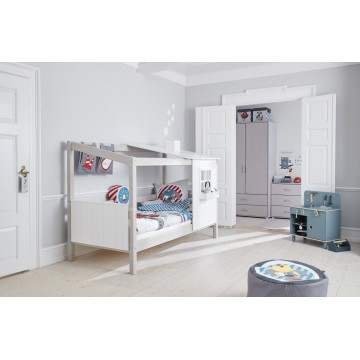CLASSIC - SINGLE BED - 1/2 HOUSE - WHITE WASHED
