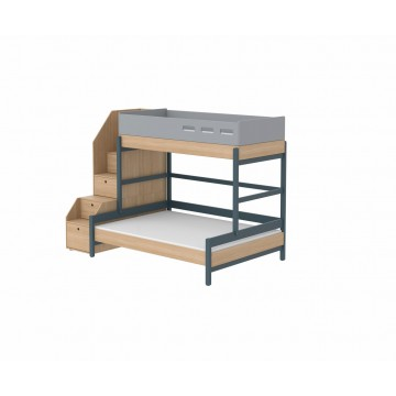 POPSICLE – FAMILY BED W. STORAGE STAIRCASE – BLUEBERRY