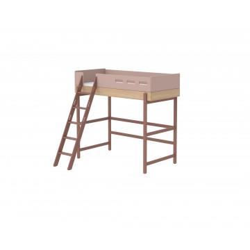 POPSICLE – HIGH BED W. SLANTING LADDER – CHERRY