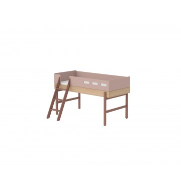 POPSICLE – MID HIGH BED W. SLANTING LADDER – CHERRY