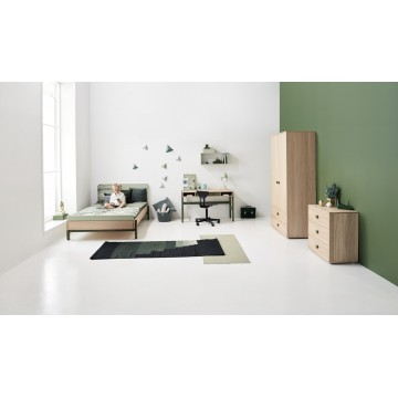 POPSICLE – SINGLE BED 120CM W. HEAD AND FOOT BOARD – BLUEBERRY