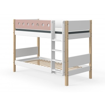 WHITE – BUNK BED – CLEAR LACQUER / ROSE