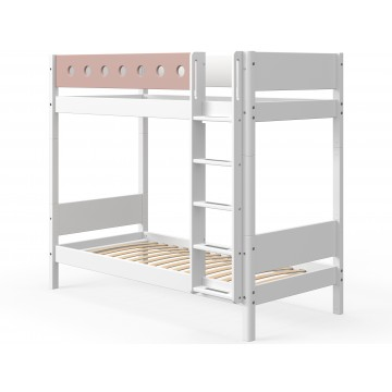 WHITE – BUNK BED EXTRA HEIGHT – WHITE / ROSE