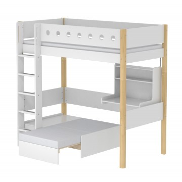 WHITE – CASA HIGH BED – CLEAR LACQUER / WHITE