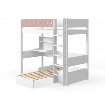 WHITE – CASA HIGH BED – WHITE / ROSE