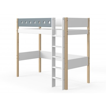WHITE – HIGH BED – CLEAR LACQUER / BLUE