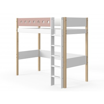 WHITE – HIGH BED – CLEAR LACQUER / ROSE