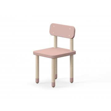 CHAIR WITH BACK REST – LIGHT ROSE