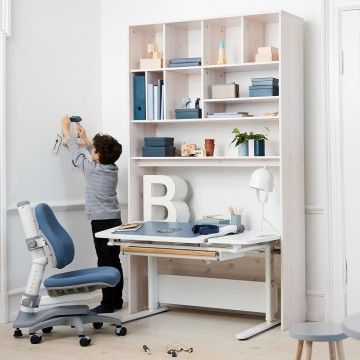 BOOKCASE WITH 1 SHELF AND WALL MOUNT - GREY WASHED