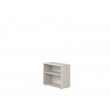 BOOKCASE WITH 1 SHELF AND WALL MOUNT - WHTE WASHED