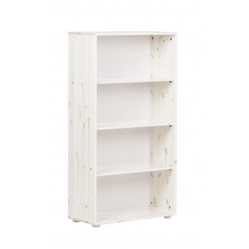 BOOKCASE WITH 3 SHELVES WHITE WASHED
