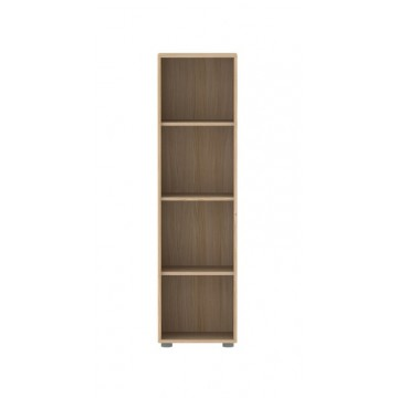 HIGH NARROW BOOKCASE WITH 3 SHELVES